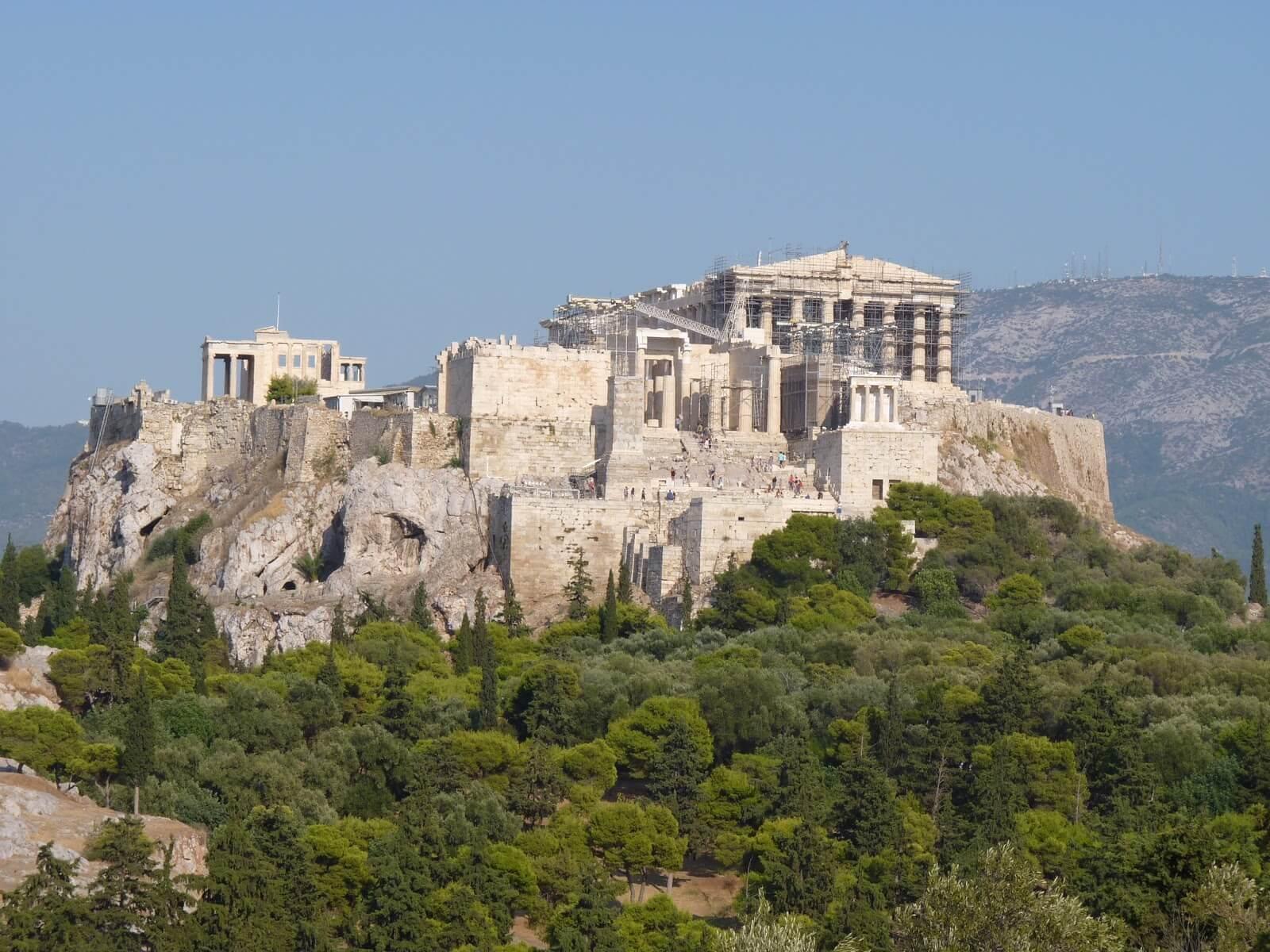 Atenas Acrópole Grécia Mundo Indefinido