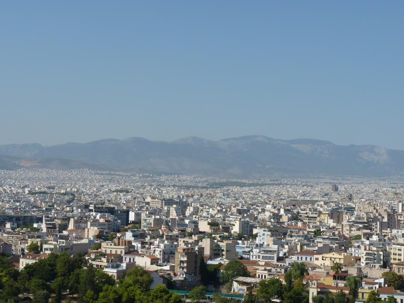 Atenas Vista 01 Grécia Mundo Indefinido