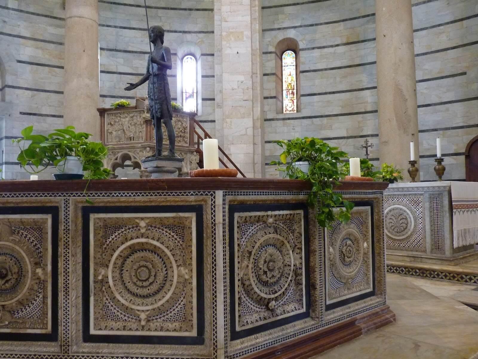 Battistero di San Giovanni Pias Baptismais Pisa Itália Mundo Indefinido