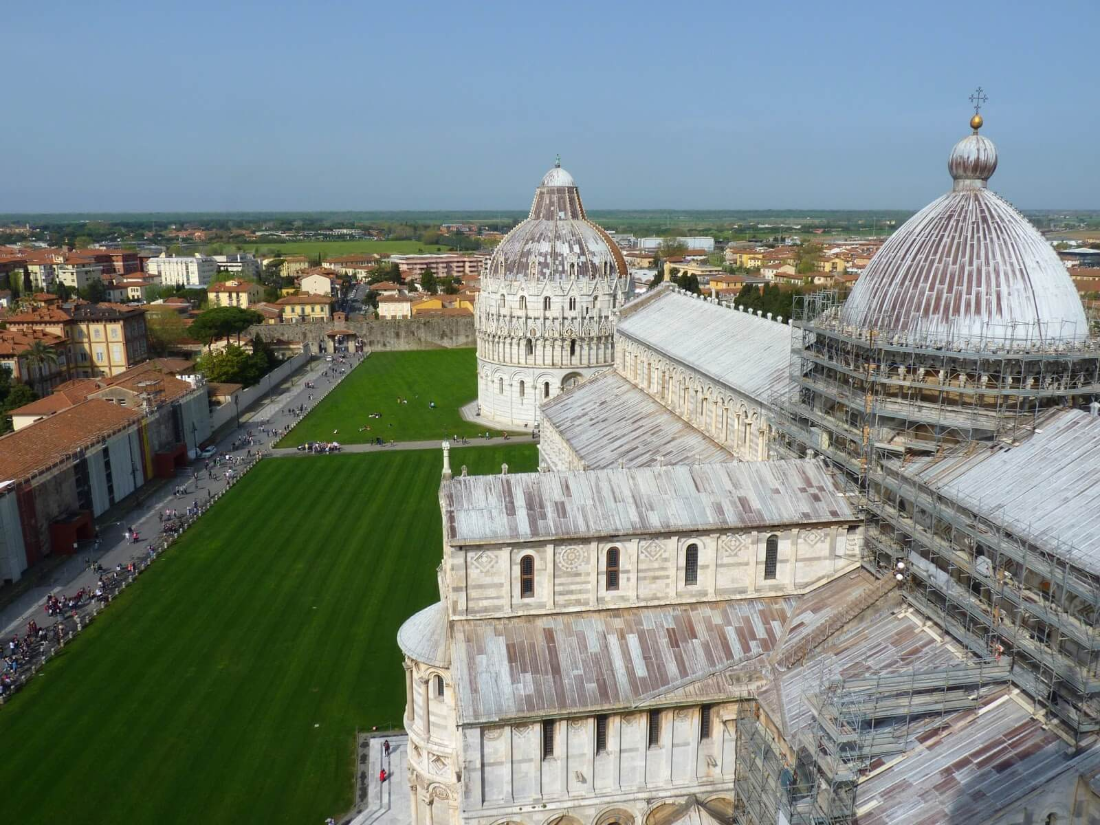 Piazza del Duomo Vista de Cima Pisa Itália Mundo Indefinido