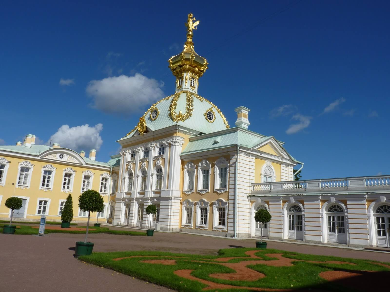 Jardins Superiores 03 Peterhof São Petersburgo Rússia Mundo Indefinido