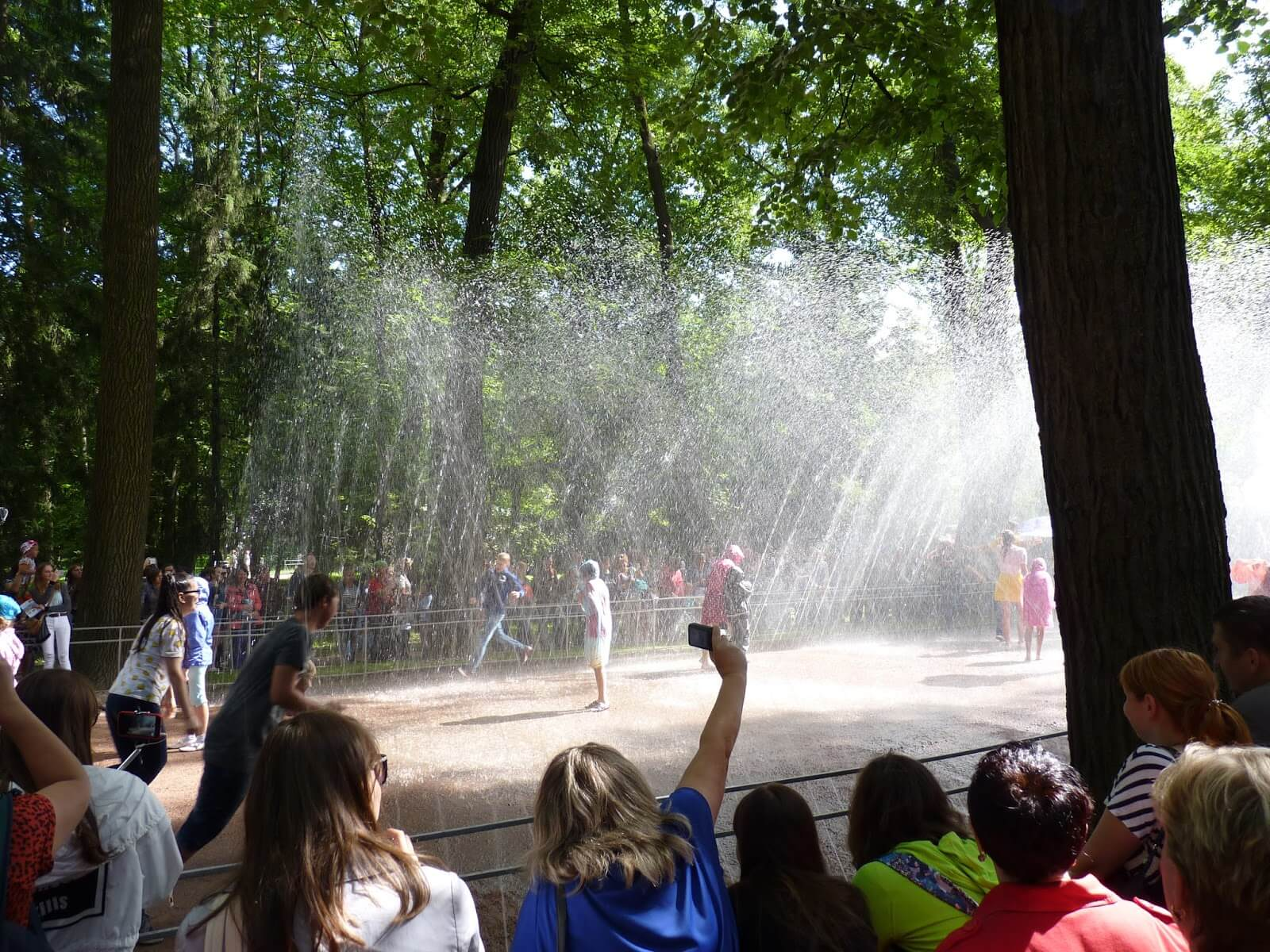 Trick Fountain Water Road Peterhof São Petersburgo Rússia Mundo Indefinido