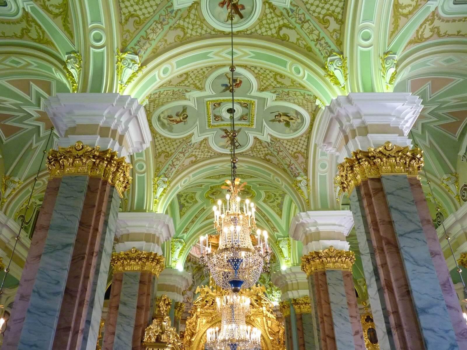Catedral de São Pedro e São Paulo interior São Petersburgo Rússia Mundo Indefinido