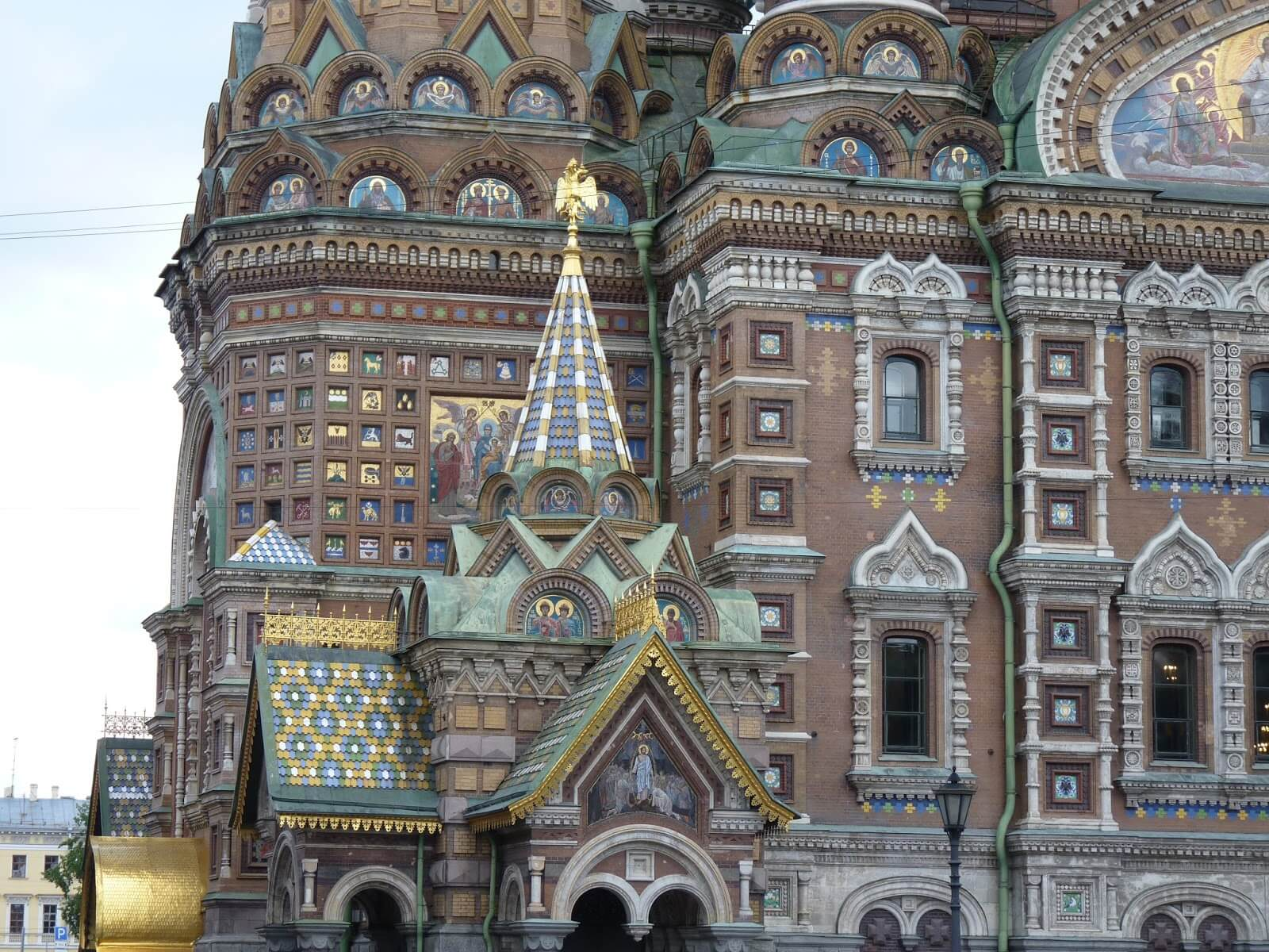 Catedral do Sangue Derramado fachada São Petersburgo Rússia Mundo Indefinido
