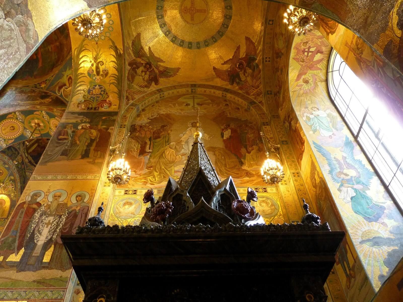 Catedral do Sangue Derramado interior 01 São Petersburgo Rússia Mundo Indefinido
