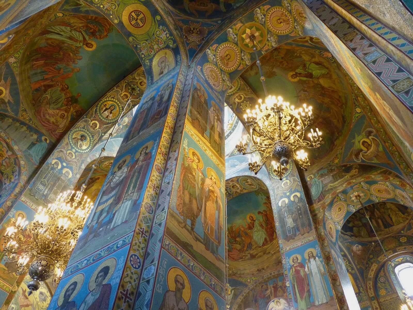 Catedral do Sangue Derramado interior 02 São Petersburgo Rússia Mundo Indefinido