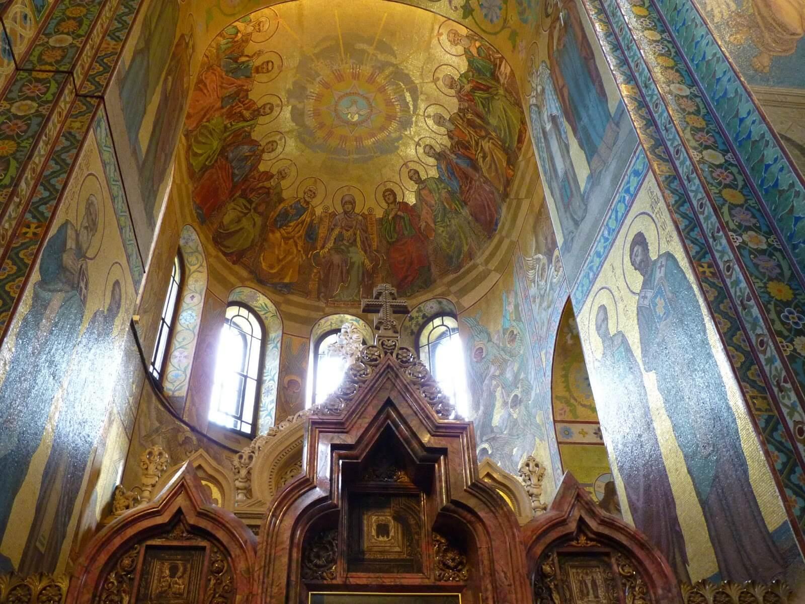 Catedral do Sangue Derramado interior 03 São Petersburgo Rússia Mundo Indefinido