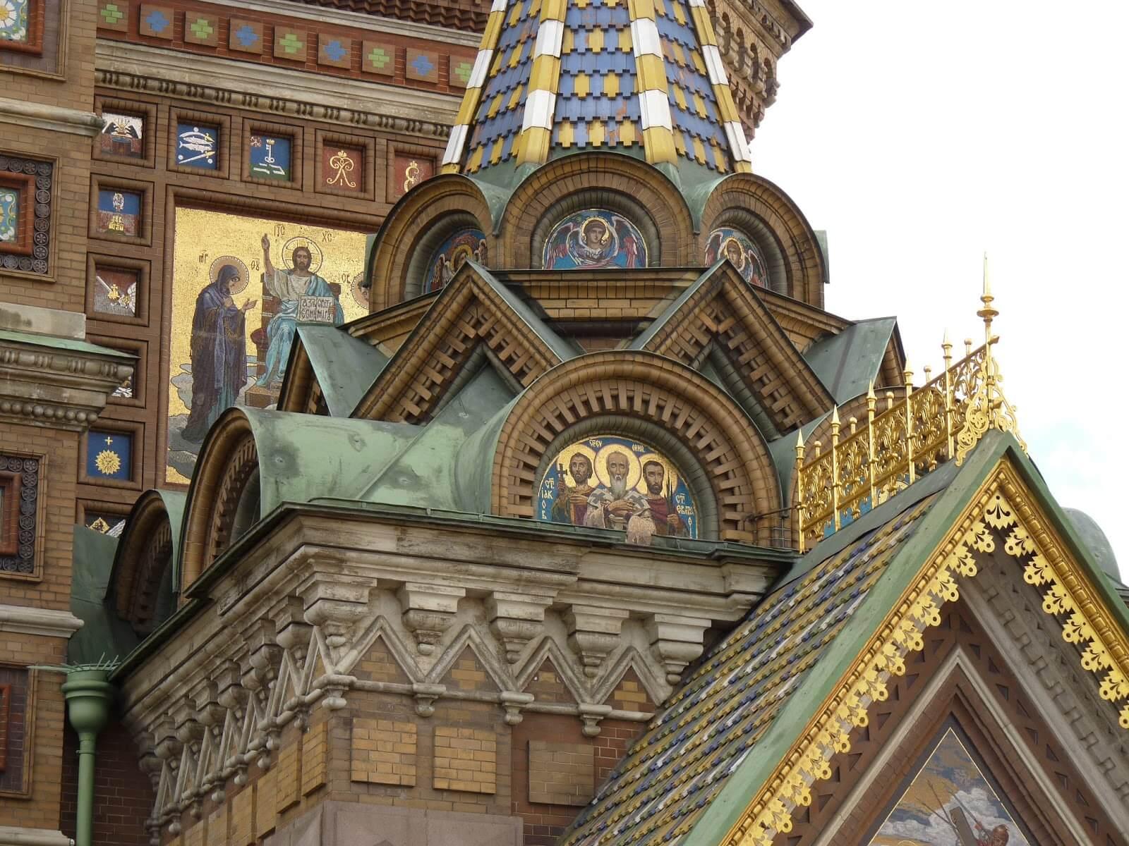 Catedral do Sangue Derramado pormenor fachada São Petersburgo Rússia Mundo Indefinido