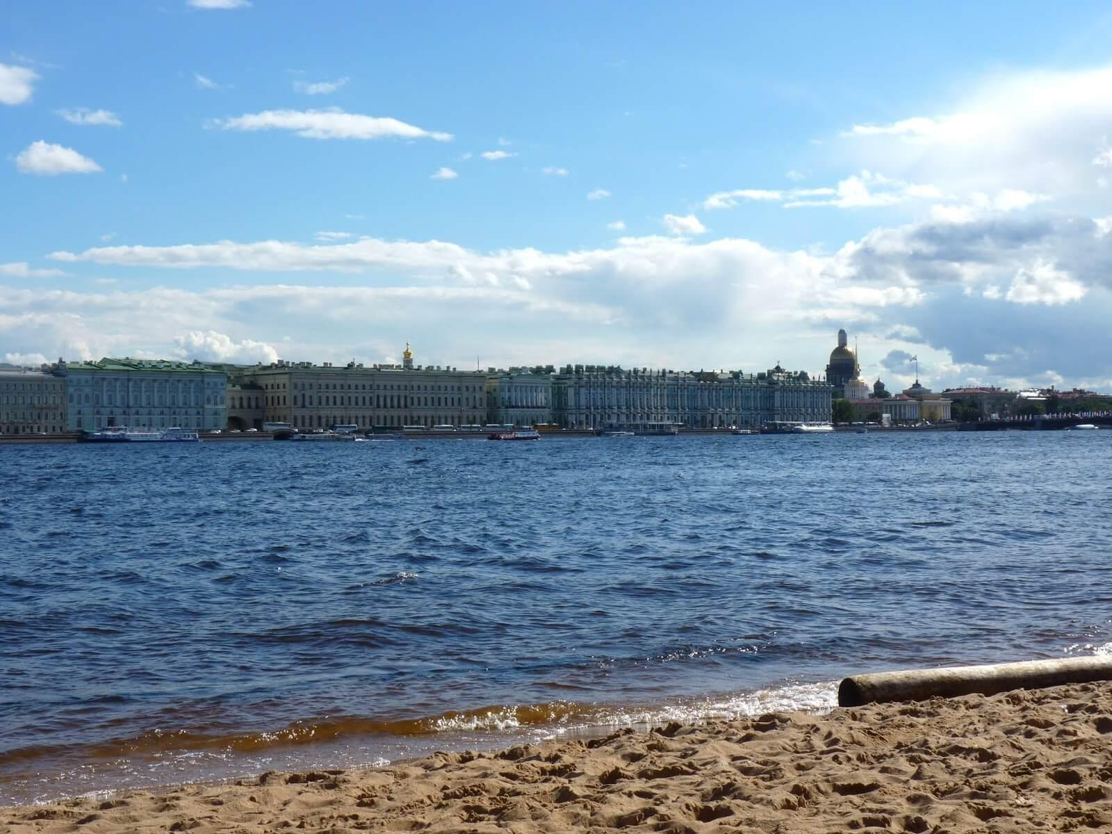 Vista para Hermitage Fortaleza de São Pedro e São Paulo São Petersburgo Rússia Mundo Indefinido