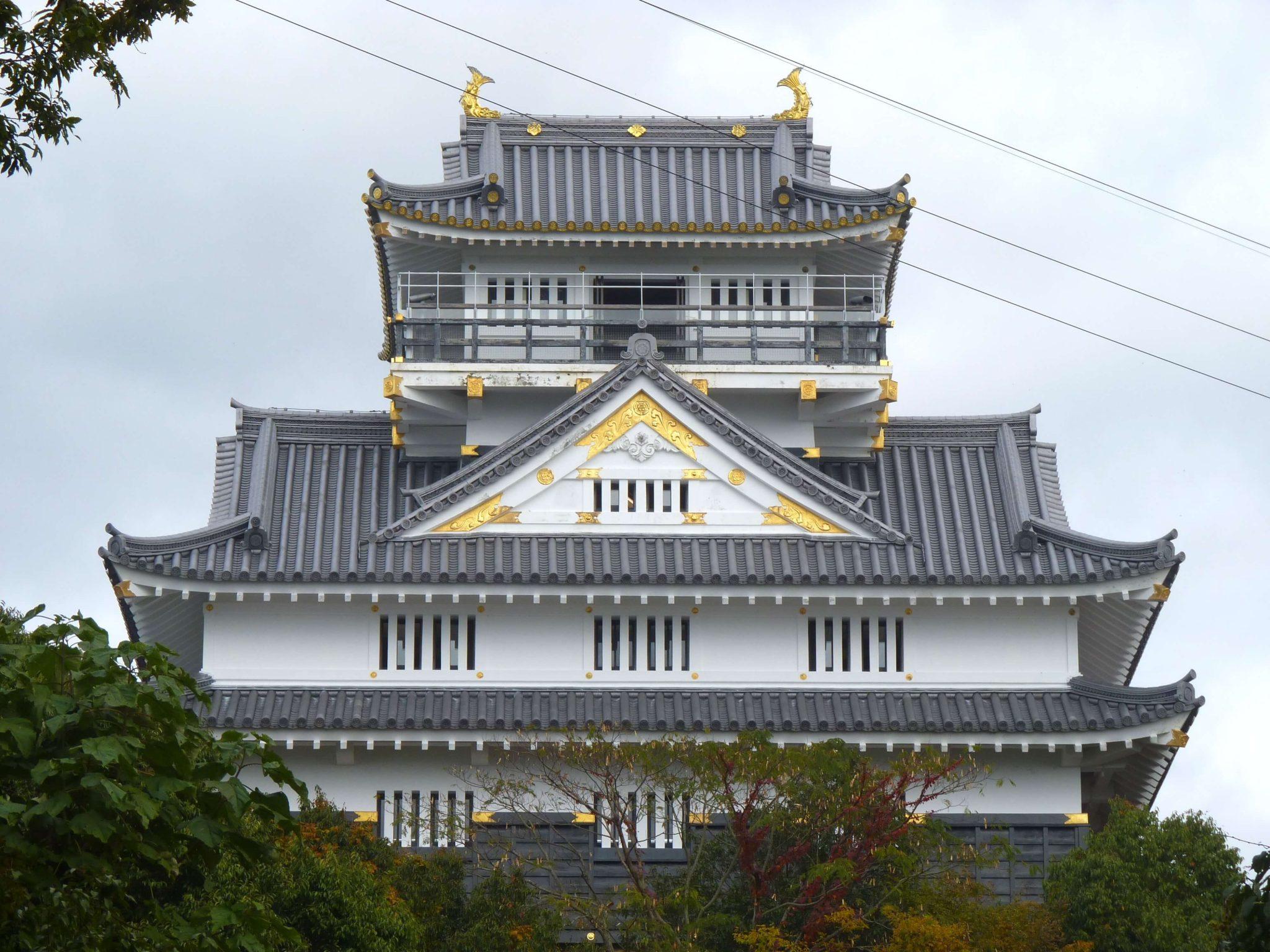 Gifu Castelo traseiras Japão Mundo Indefinido