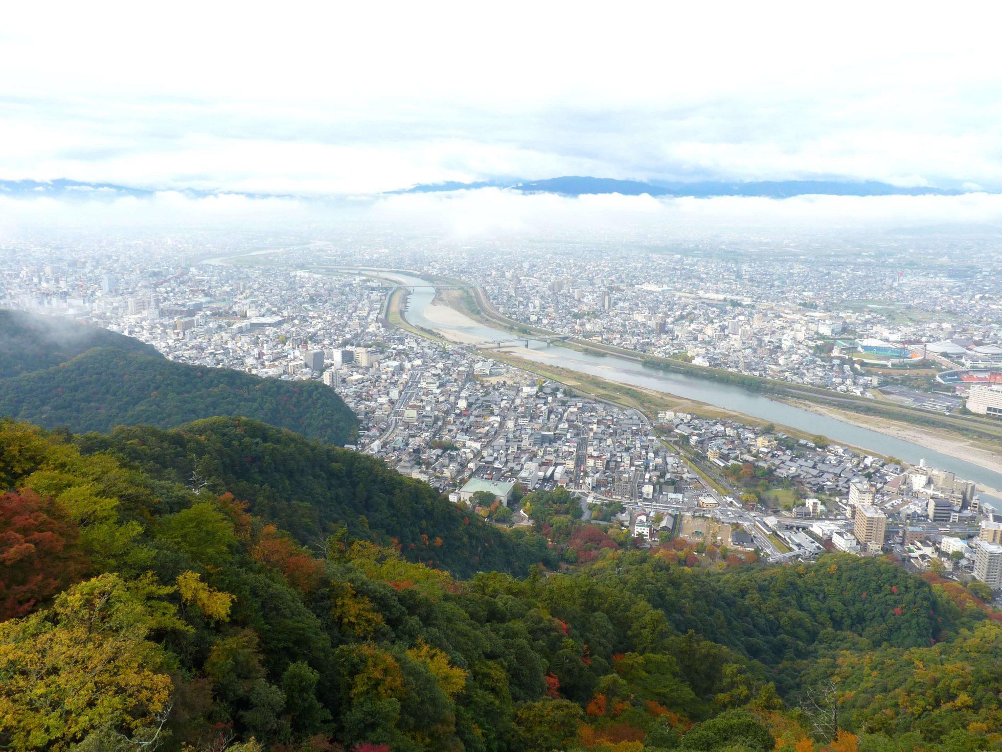 Gifu Castelo vista cidade 02 Japão Mundo Indefinido
