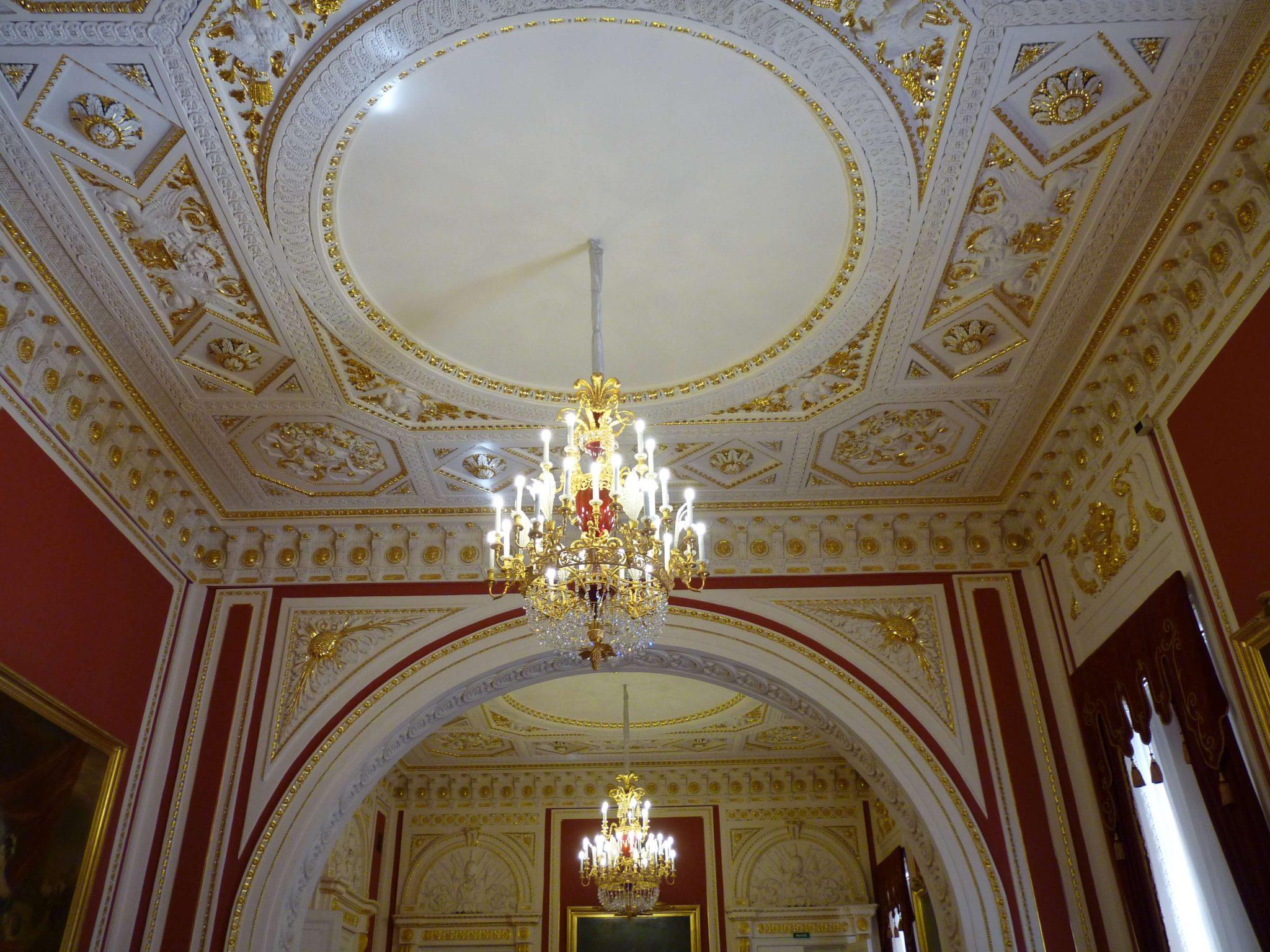 Castelo Mikhailovsky interior São Petersburgo Rússia Mundo Indefinido