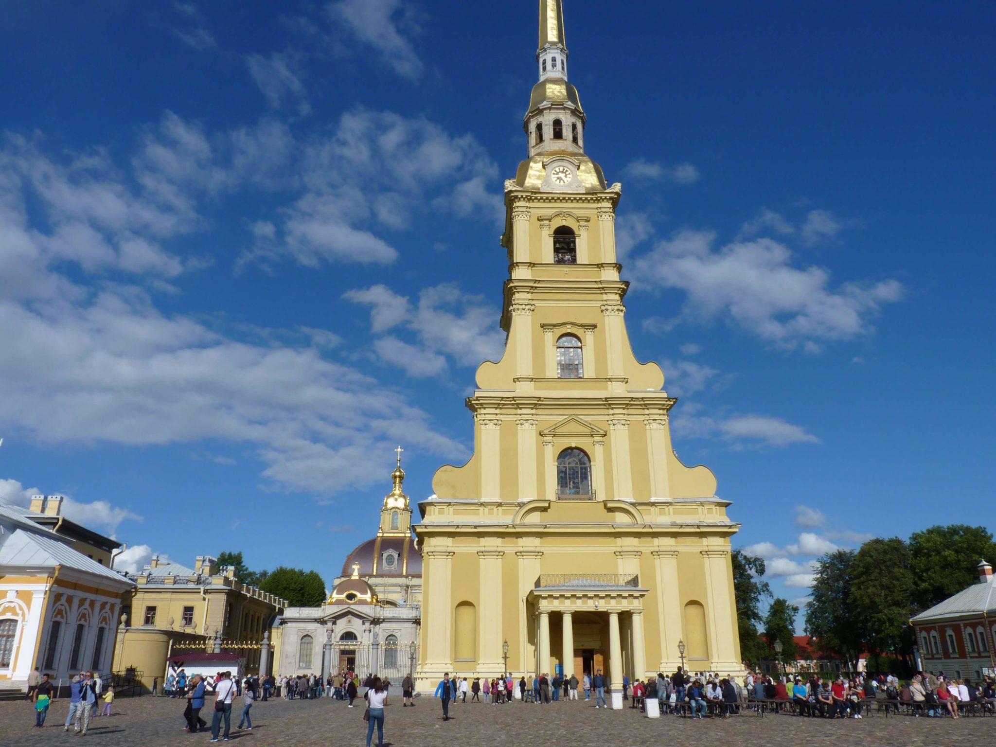 Catedral de São Pedro e São Paulo São Petersburgo Rússia Mundo Indefinido
