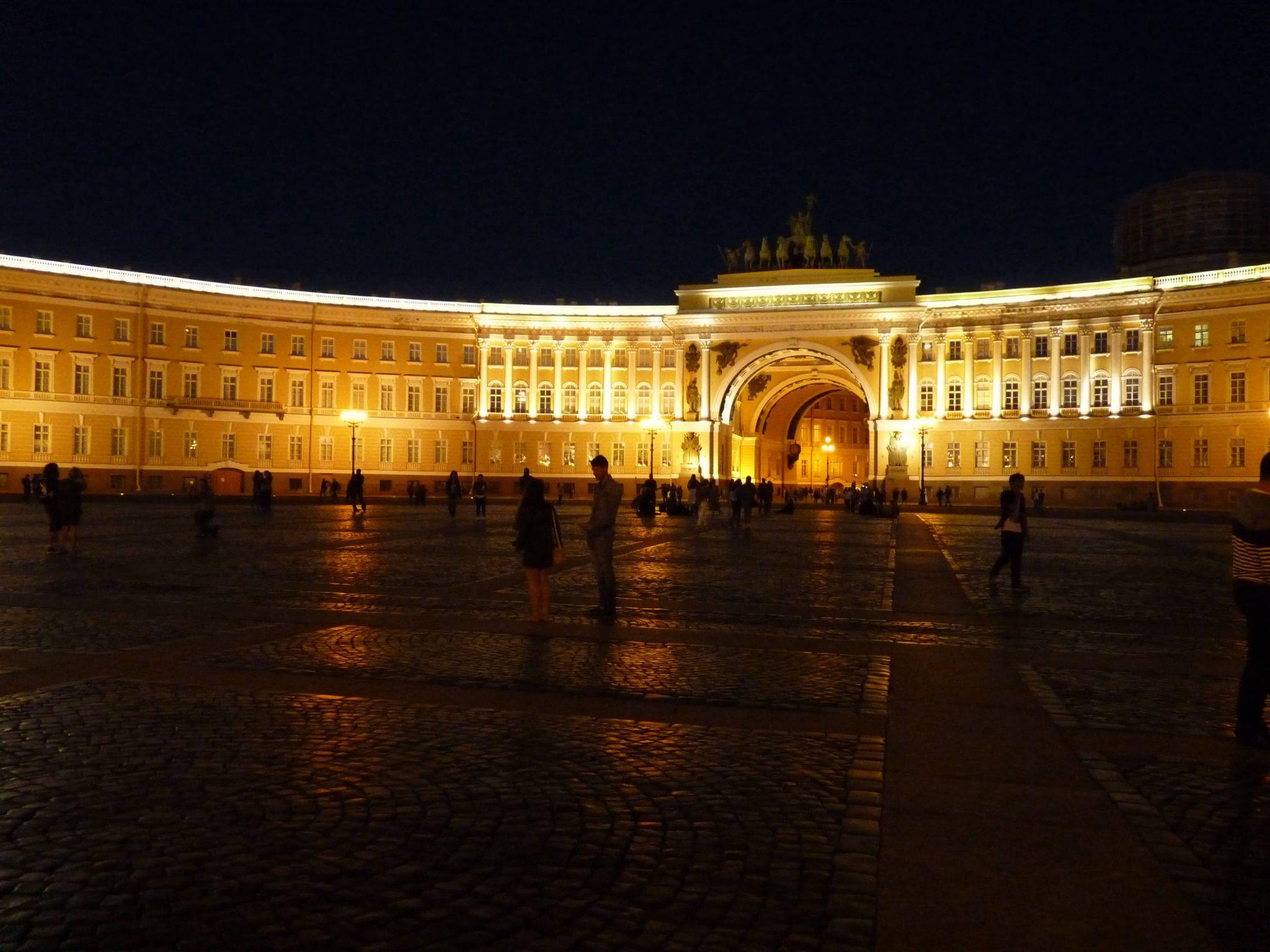 Praça do Hermitage à noite São Petersburgo Rússia Mundo Indefinido