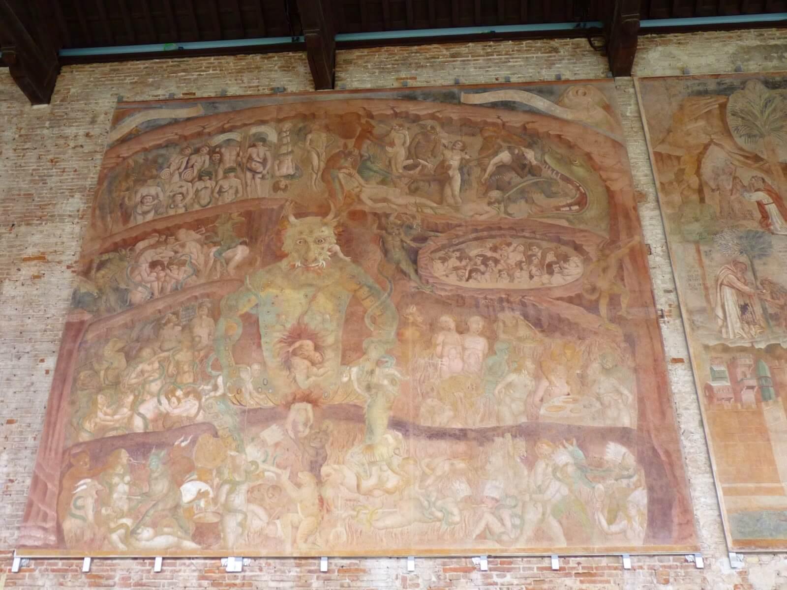 Camposanto Frescos 02 Pisa Itália Mundo Indefinido