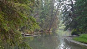 Viajar sustentável - rio em Banff no Canadá