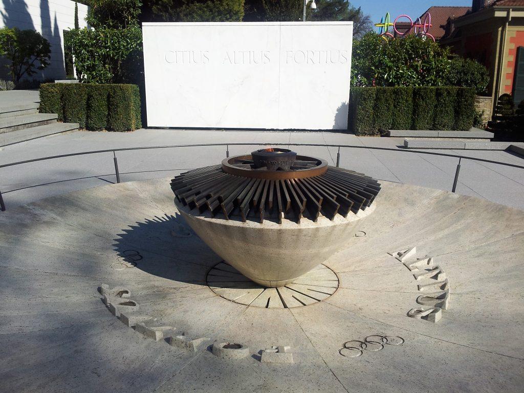 Chama que não apaga no Museu Olímpico de Lausanne Suíça