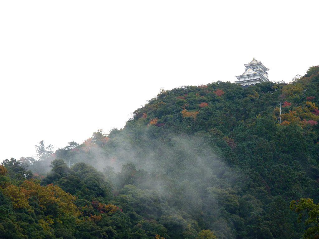 Castelo de Gifu Monte Kinka Japão Mundo Indefinido