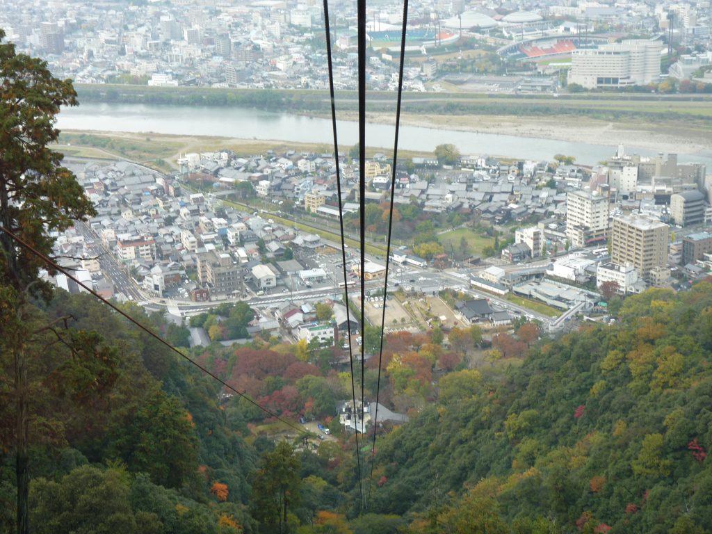 Subida Teleférico 02 Castelo de Gifu Japão Mundo Indefinido